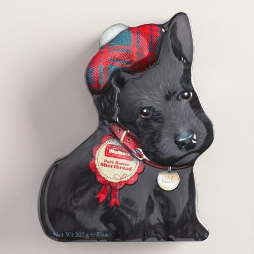 One of my favorite discoveries at WorldMarket.com: Walkers Wee Scottie Dog Cookie Tin