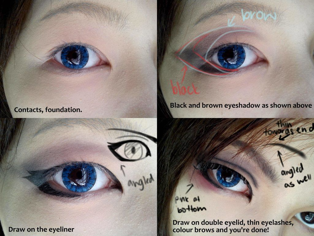 Cosplay eyes! | Cosplay makeup, Cosplay makeup tutorial ...