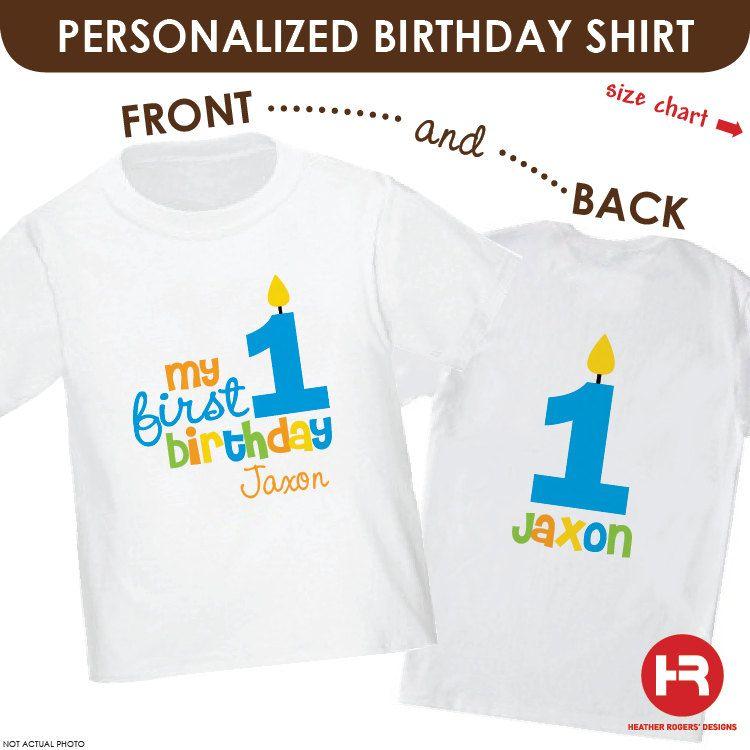 Boys 1st Birthday Shirt Or Bodysuit By HeatherRogersDesigns 1850