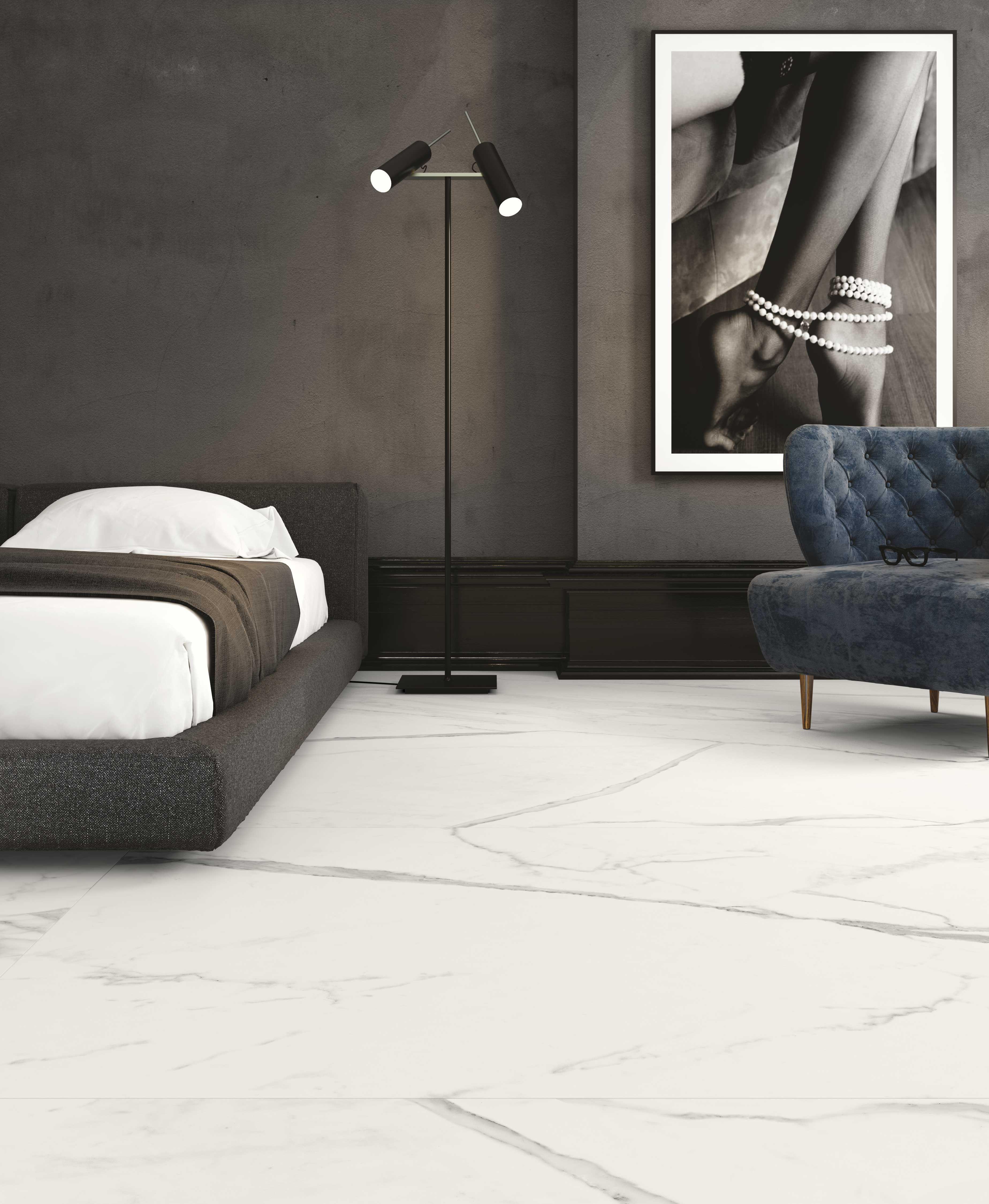 Modern Bedroom Designed Using Everstone Tiles Tile Bedroom Modern Living Room Interior Wall And Floor Tiles