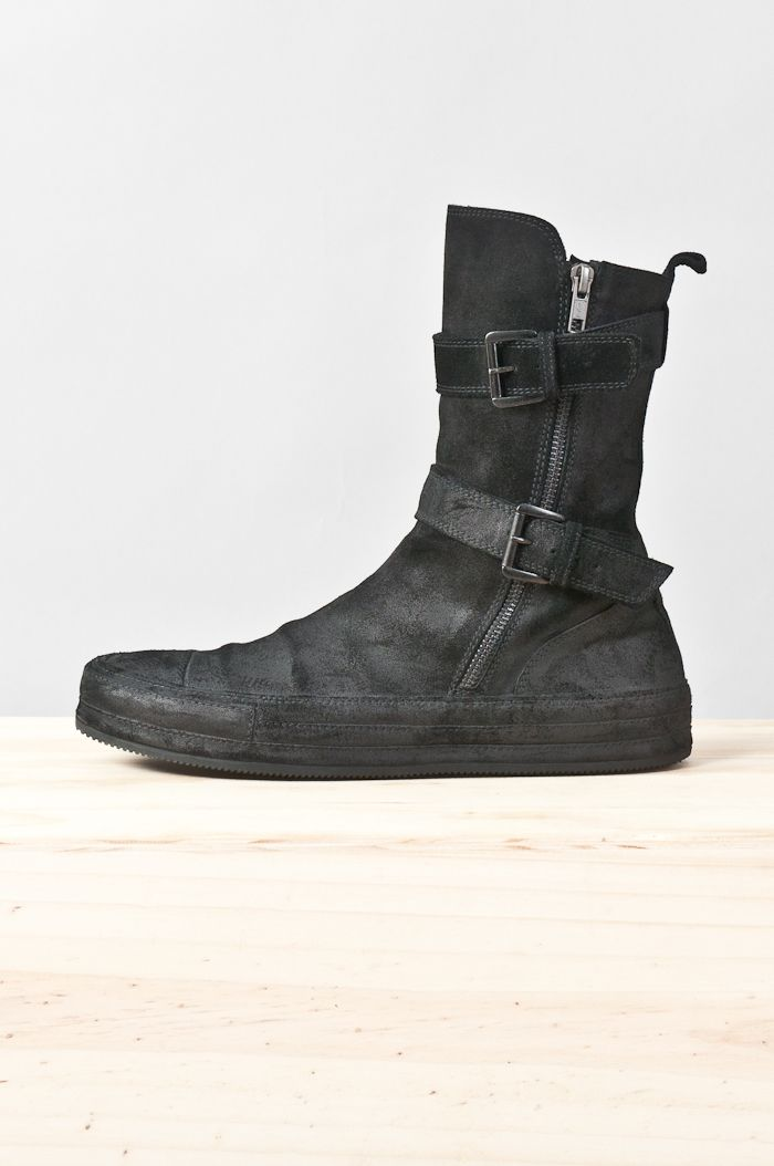 abebc5e767de Ann Demeulemeester - reverse leather vitello sneaker boot