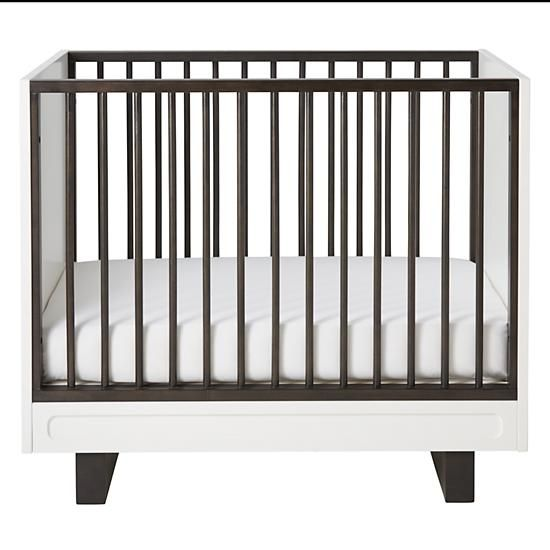 Shop Elevate Mini Crib.  Our exclusive Elevate Mini Crib features a contrasting two-tone finish that provides a stunning look for any type of nursery.  Shop baby cribs today.