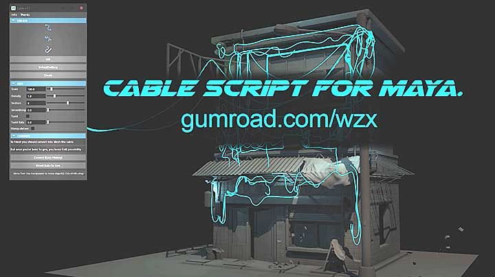 Romain CHAULIAC's Cable Script for Maya Offers a Much Cleaner Result