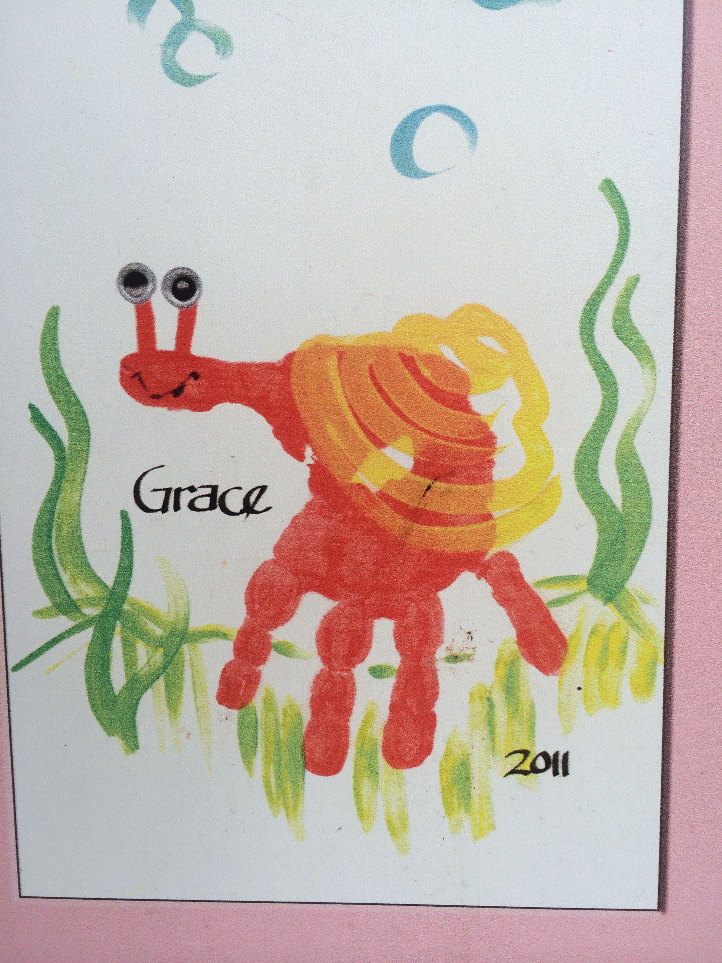 Kids Handprint Idea Handprint Snail Craft For Kids