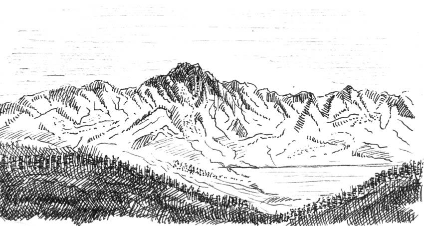 Croquis de montagne mountain hiking trekking - Dessiner un paysage ...