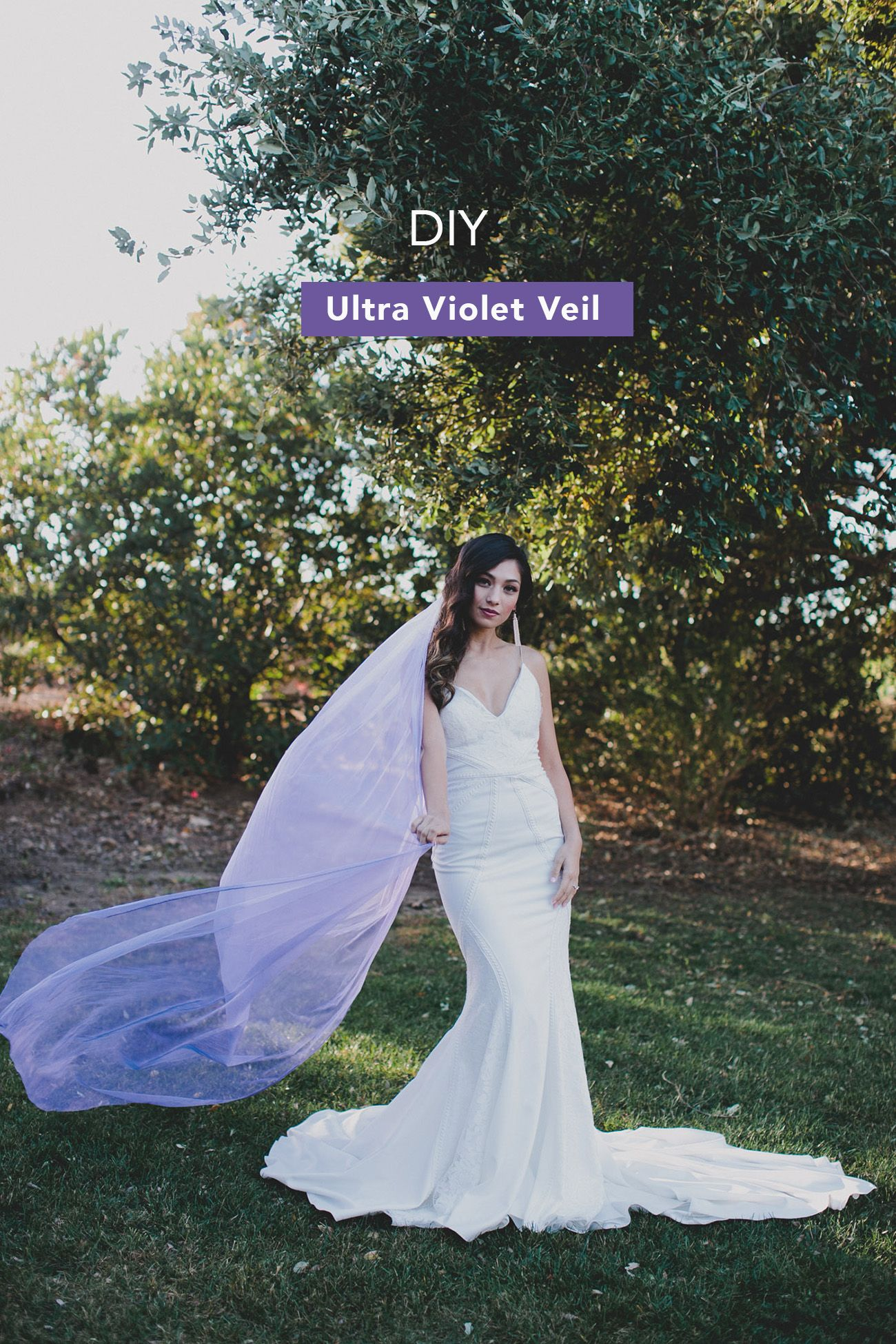 Diy Your Own Ultra Violet Veil Wedding Dress Styles Wedding