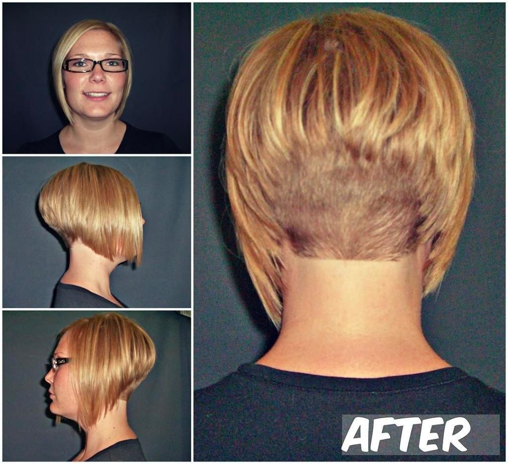 how to cut a short stacked bob haircut