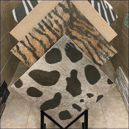 Faux Fur Animal Print Ceramic Tile