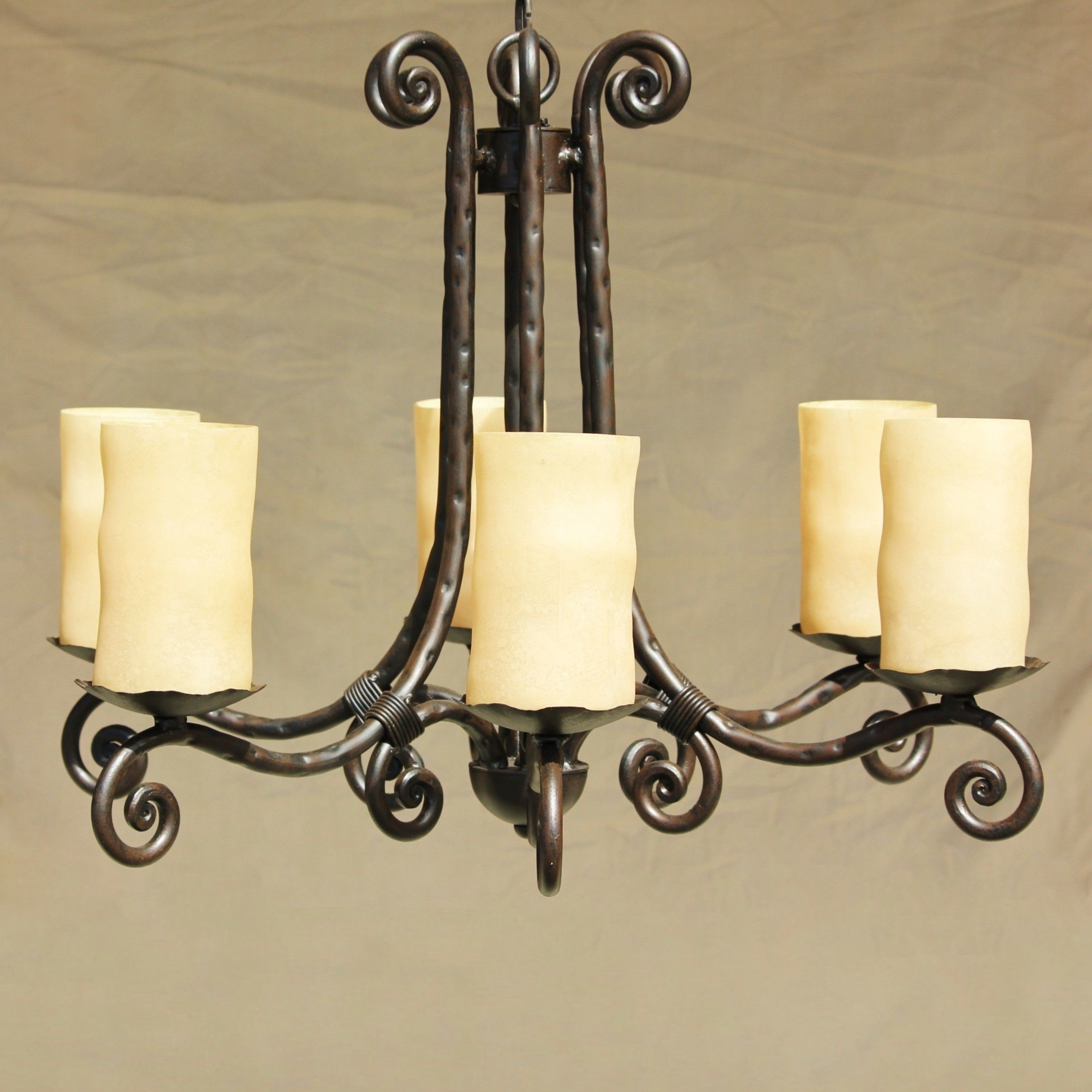 Tuscan Gothic Me val Chandelier Hand Forged Wrought Iron