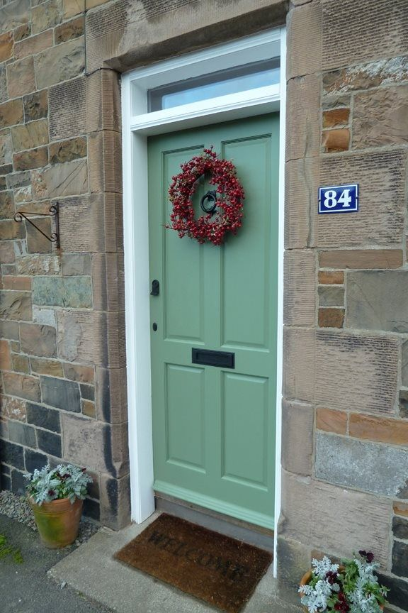 Farrow Ball Cooking Apple Green Door Green Front Doors Painted Front Doors Front Door Farrow And Ball