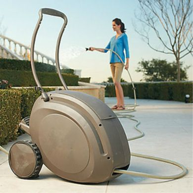 Charming Easy Wind Retractable Hose Reel   Garden Hose Management: 10 Stylish  Solutions   Bob Vila
