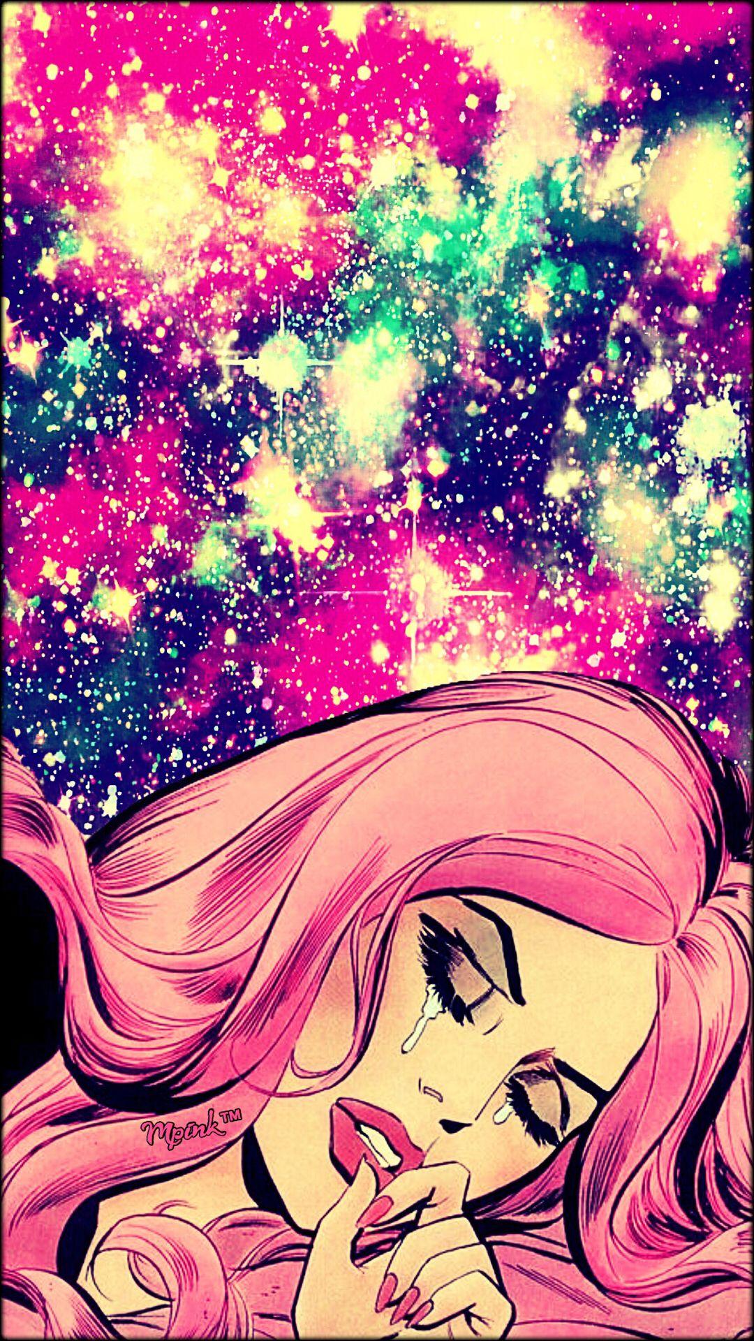 Sad girl galaxy wallpaper androidwallpaper iphonewallpaper wallpaper galaxy sparkle - Galaxy wallpaper for girls ...