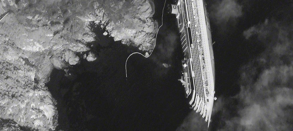 Costa Concordia As Viewed From Space Surreal Image Imagery Concordia