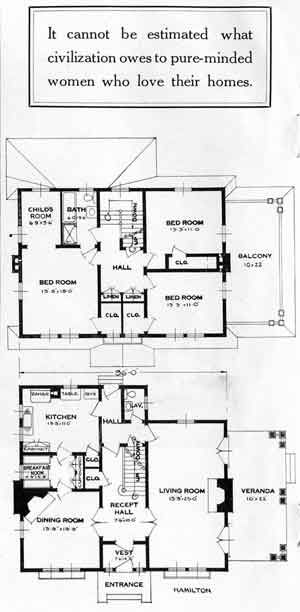 Standard Home Plans For 1926 The Hamilton House Plans Vintage House Plans House Layouts