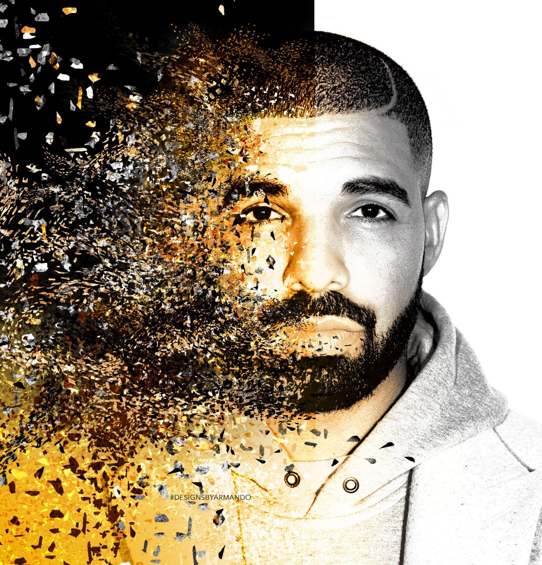 Drizzy Drake Album Cover  Creative artwork Digital Art Graphic
