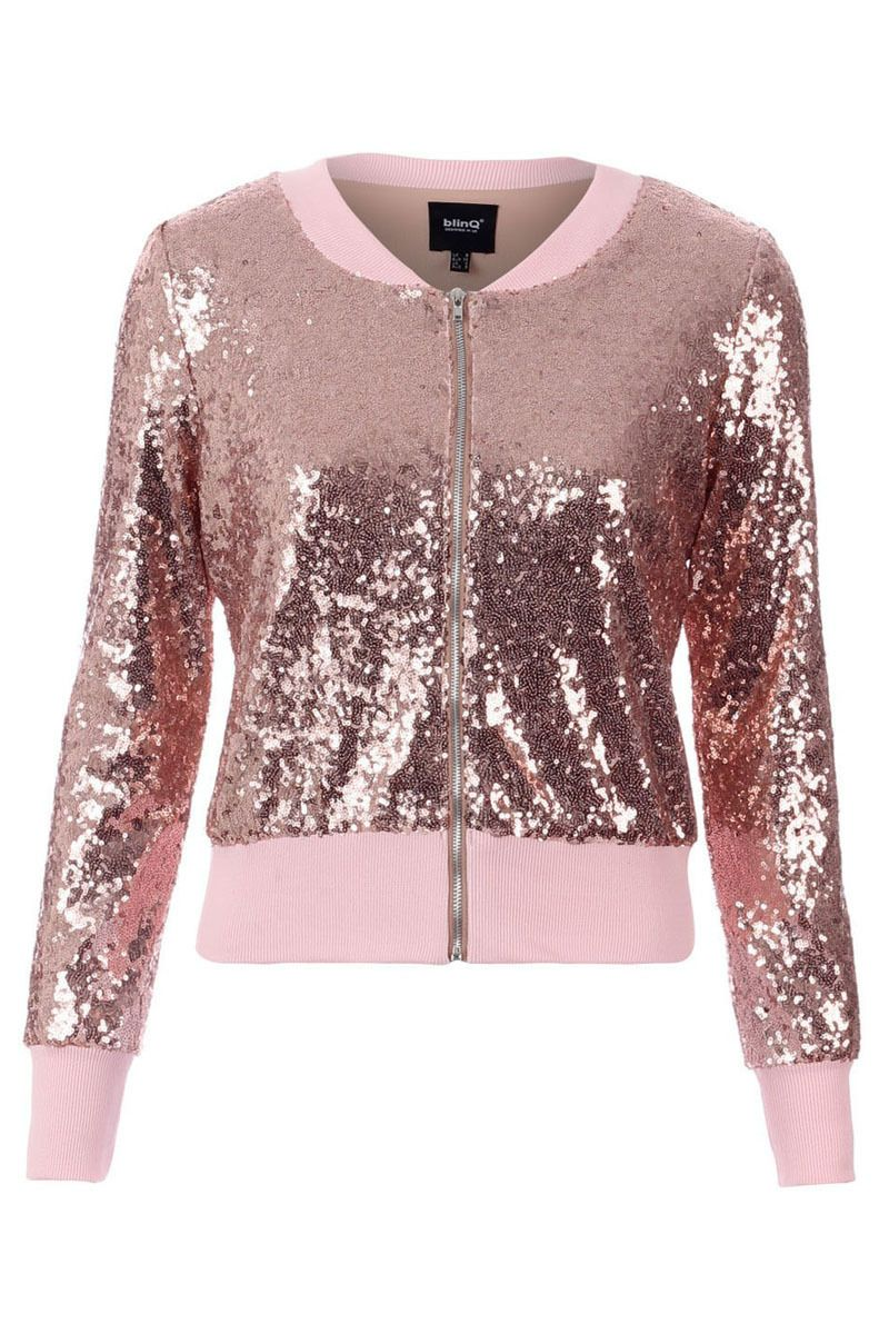 Pop Couture - BLINQ SEQUIN BOMBER JACKET ROSE GOLD, £35.99 (http ...