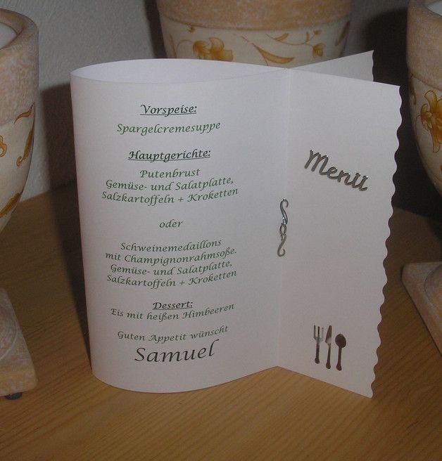 Men Karte Fisch Kommunion Hochzeit Tischdeko Kommunion