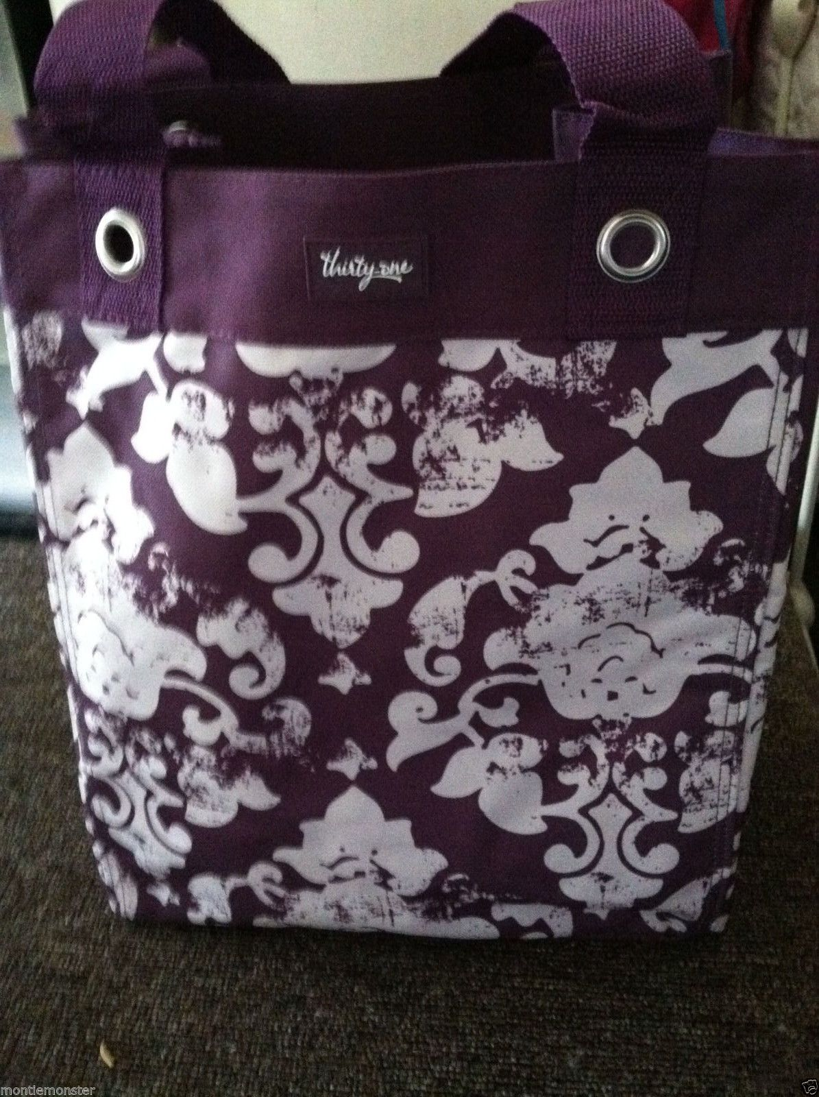 Thirty One Gifts 31 Essential Storage Tote Bag Vintage Damask New Fast Free Ship Ebay
