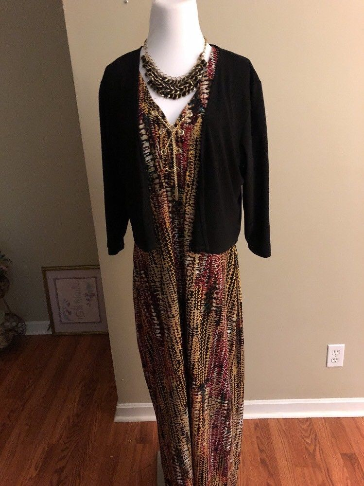 b27672a67b7 Maxi length Aztech Print Plus Size Dress Multi Colored Beautiful Design   AshleyStewart  MaxiDress  dresses izeFashion  apparel  dress   onlineshopping  eBay