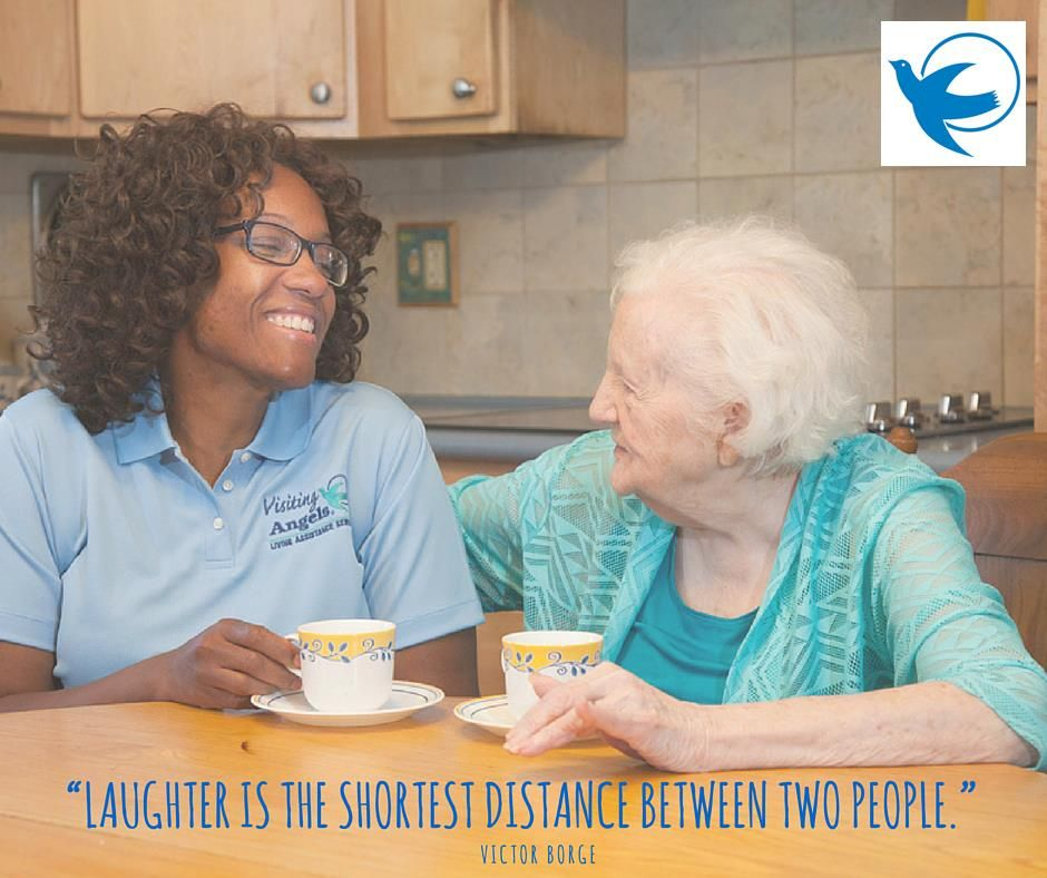 Homecare laughter elderly Home care agency, Visiting