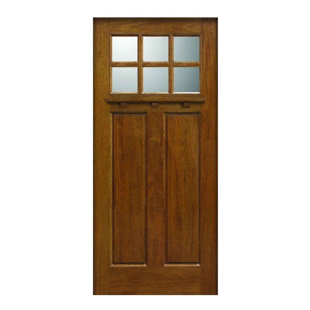 Main Door 36 In X 80 In Craftsman Collection 6 Lite Prefinished