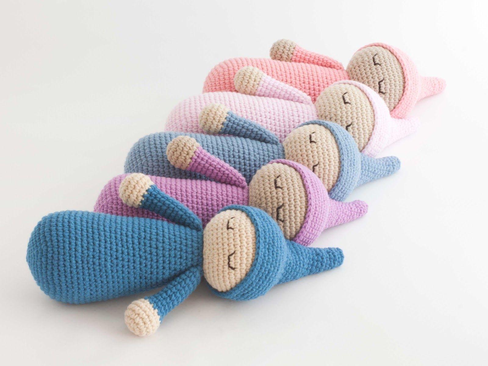 Amigurumi dormilón (enlace a patrón gratuito) | crochet | Pinterest ...