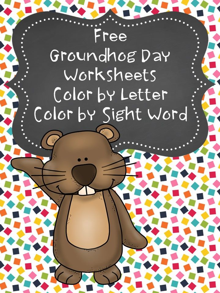 Free Groundhog Day Coloring Pages Preschool Kindergarten