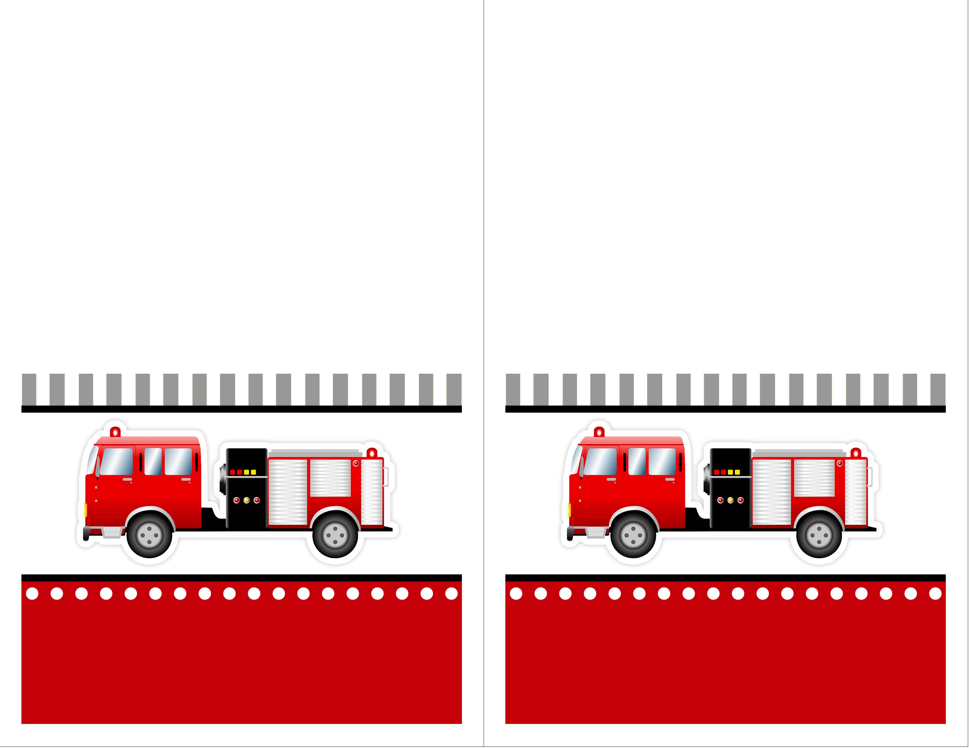 Firetruck Themed Birthday Party With Free Printables Fire