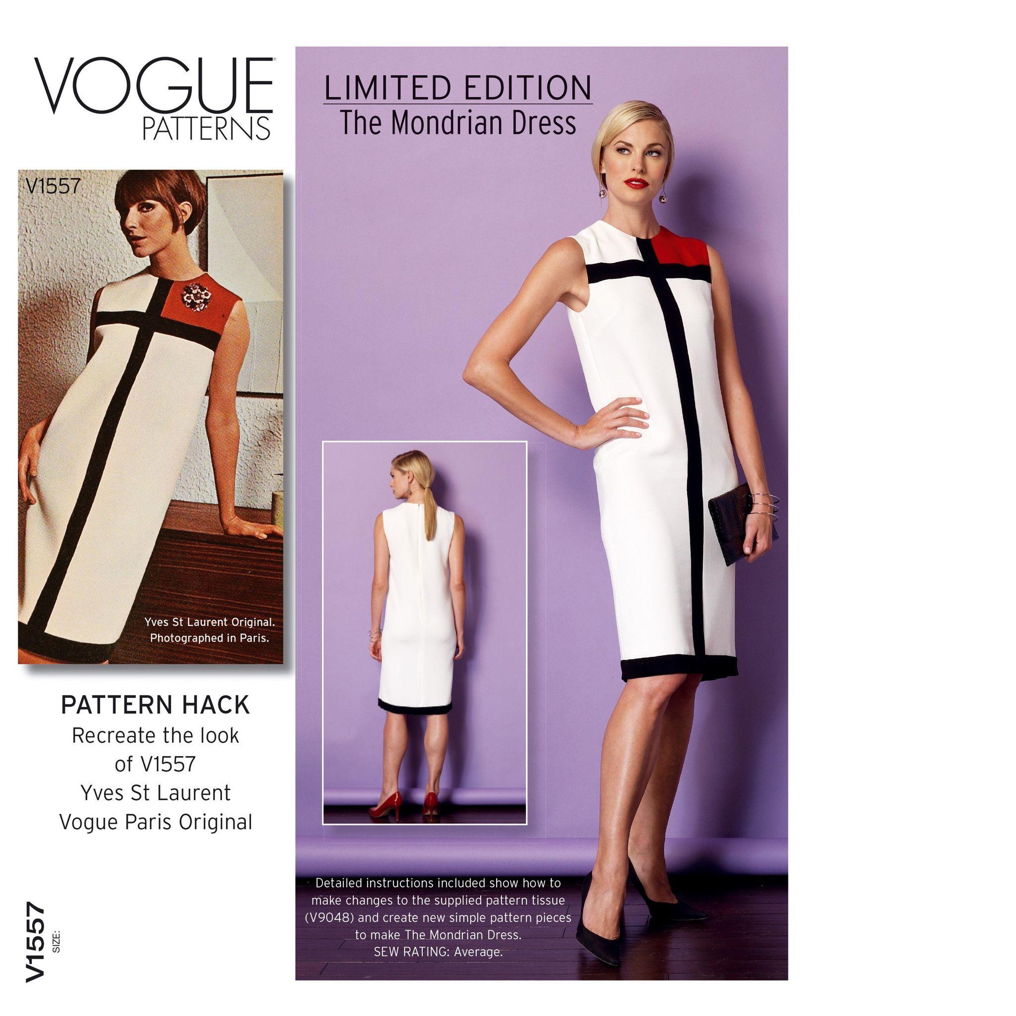 Vogue Mondrian Dress V1557 - Limited Edition Pattern Hack | Stitch ...