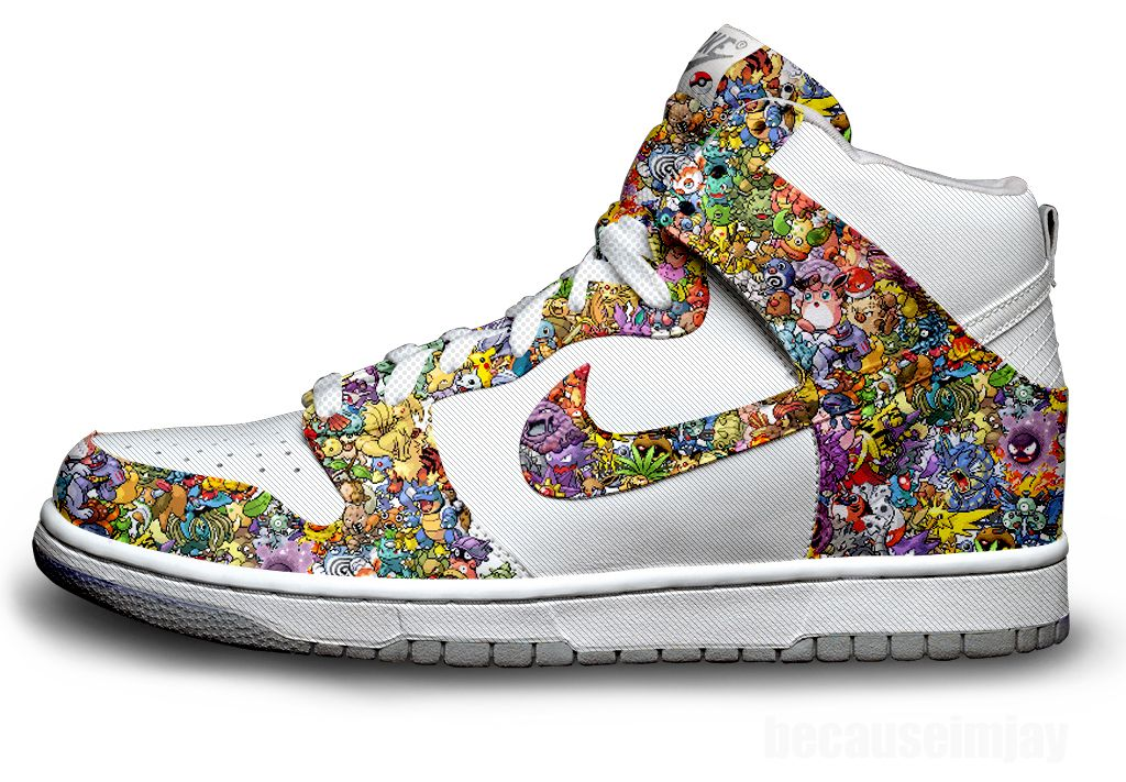 Designed by sneaker artist extraordinaire Jay Angeles, these Pokemon Nike  kicks are the sickest things I've ever see.