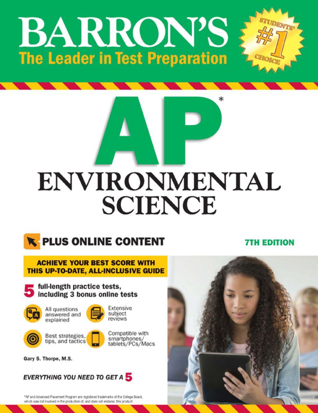 Barron S Ap Environmental Science With Bonus Online Tests Ebook Ap Environmental Science Online Tests
