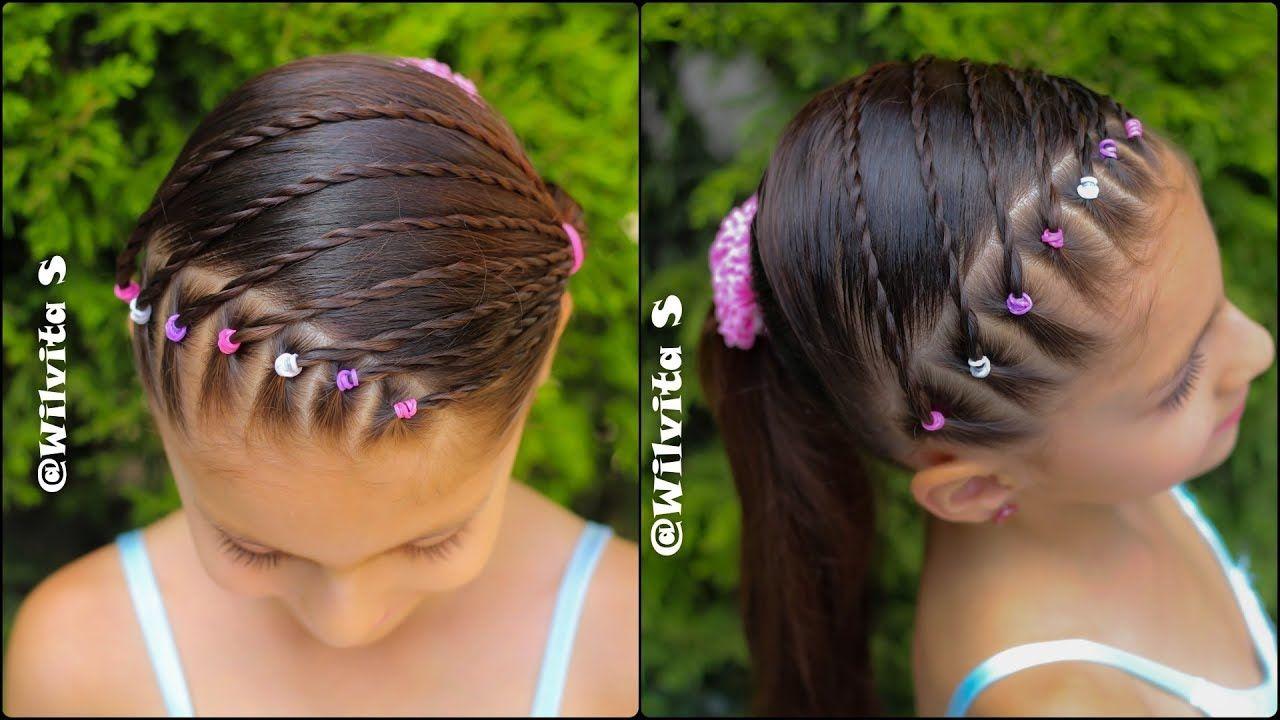 Peinado Para Niñas Con Ligas Para La Escuela Peinados Fáciles Wilvita Peinado Con Ligas Peinados Para Niñas Peinados De Niñas Faciles