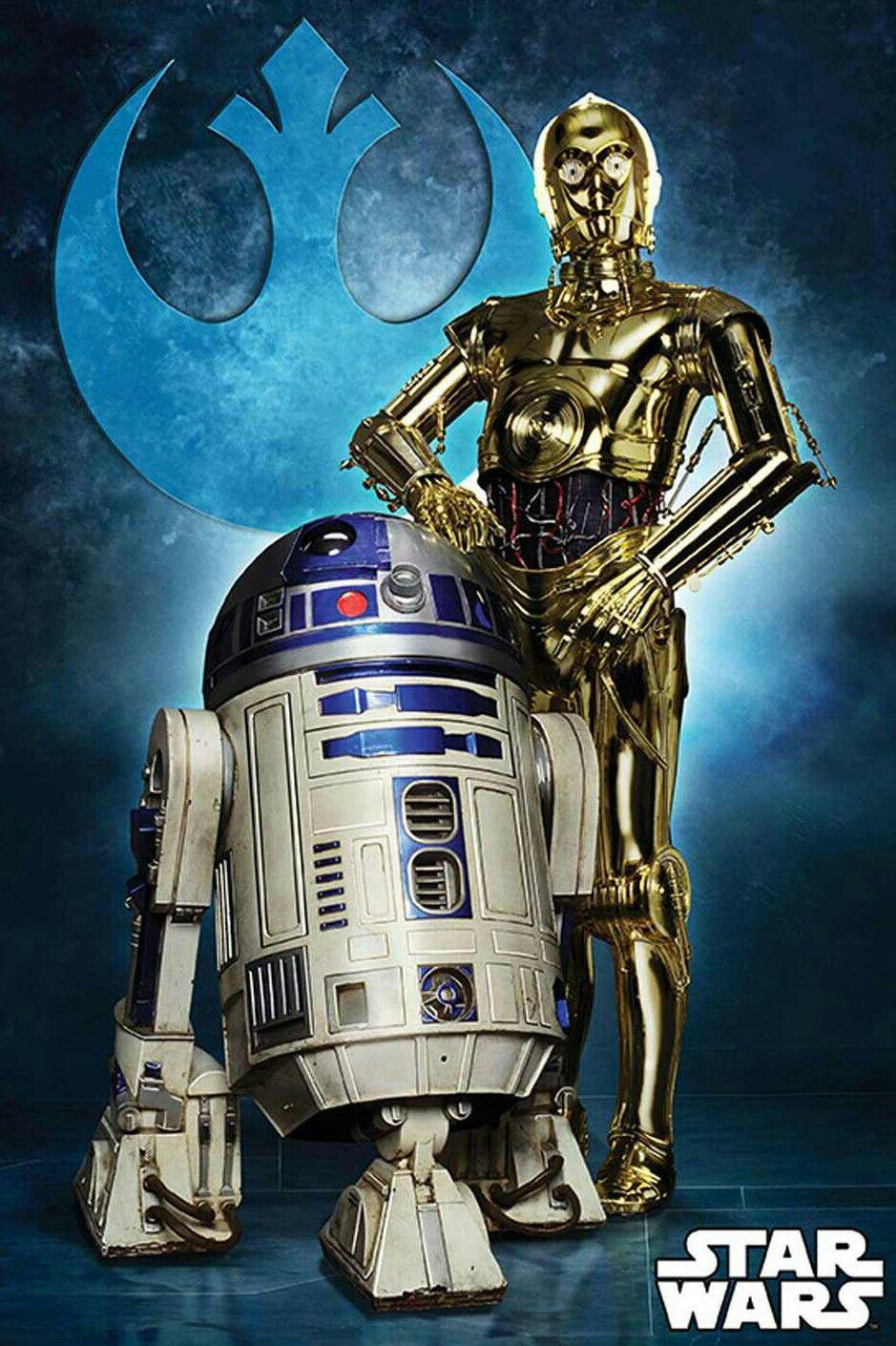 R2D2 AND C3PO Star wars art, Star wars droids, Star wars
