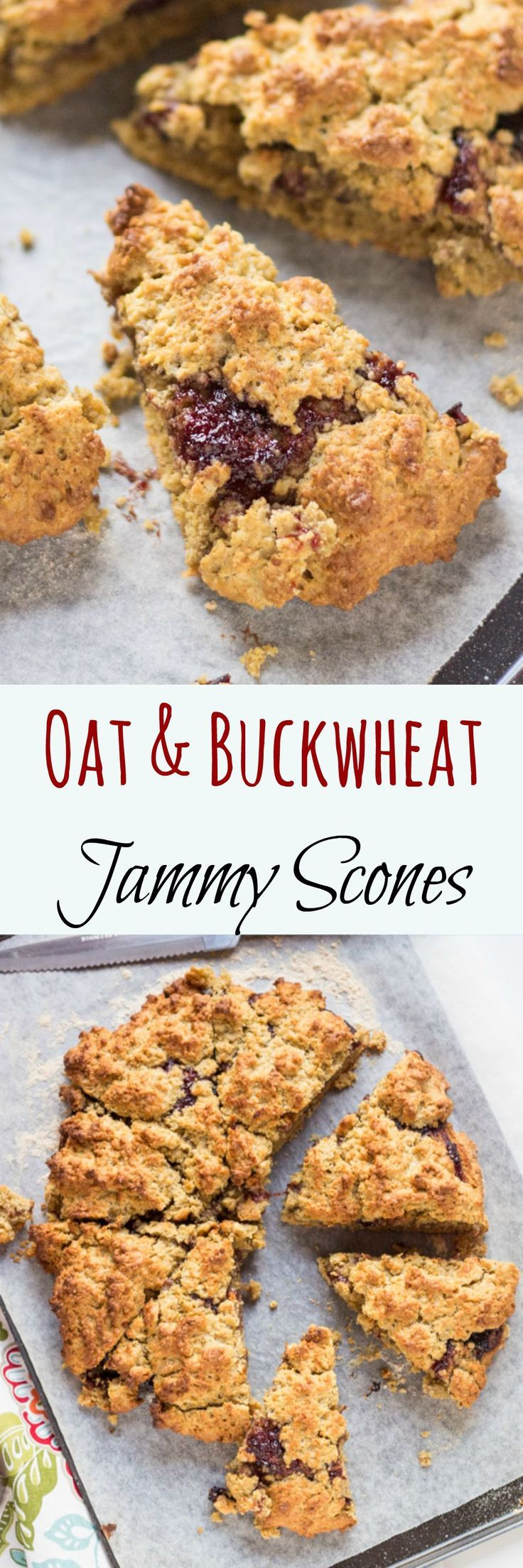 Oat & Buckwheat Jammy Scones come pre-loaded with jam, so all you need to add is cream.