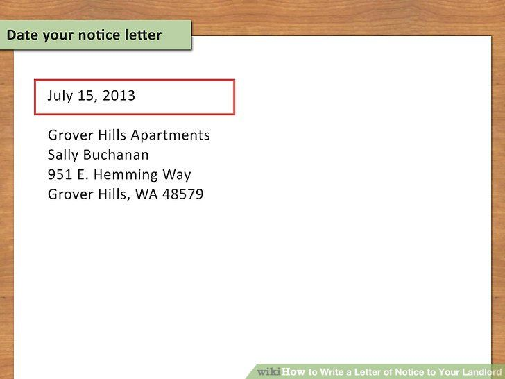 how to write a letter leaving your apartment