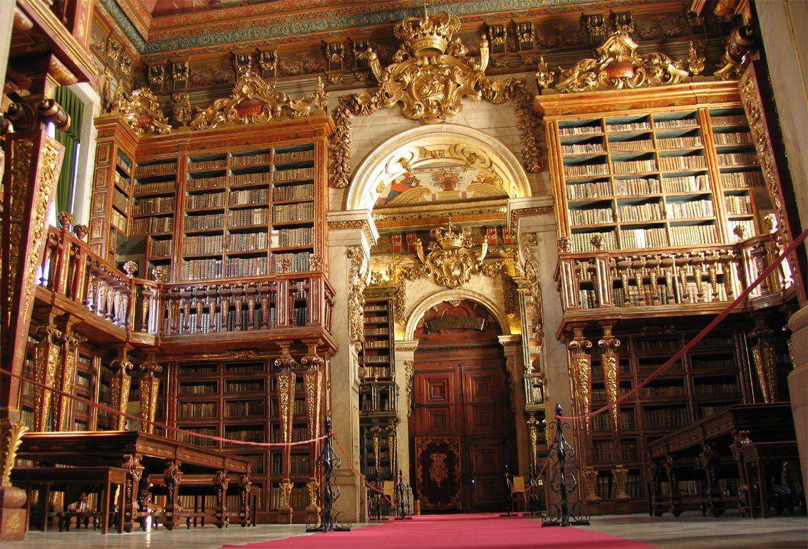 Biblioteca Joanina Universidade De Coimbra Portugal With Images