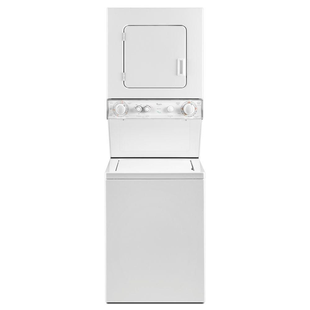 Whirlpool White Thin Twin Laundry Center With 1 5 Cu Ft Washer