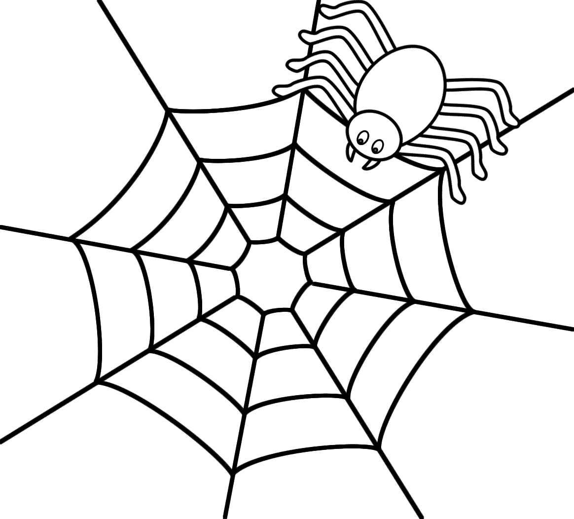Cute Spider Template For Quiet Book Page B