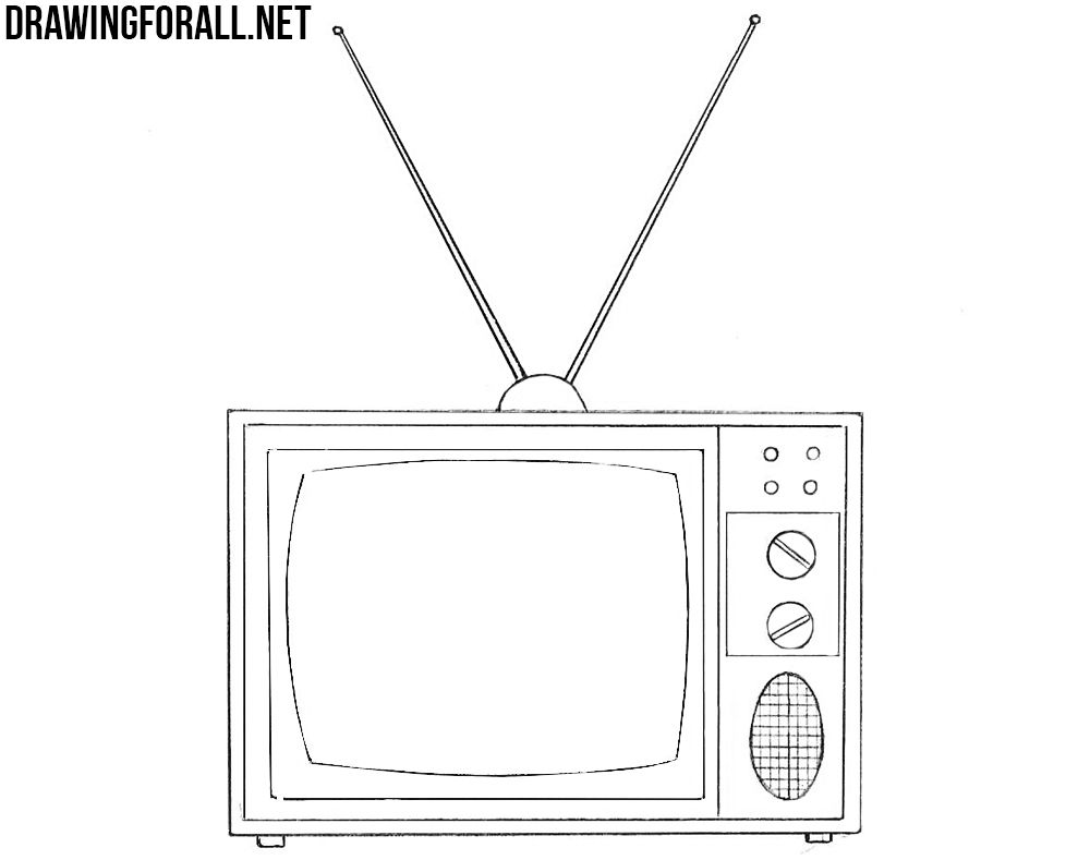 Disegno Televisione Da Colorare.How To Draw An Old Tv Drawings Computer Drawing Tv Tattoo