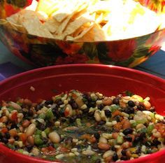 Texas Caviar Bean Dip for Cinco de Mayo Day  made by @Sandy Coughlin | Reluctant Entertainer.com