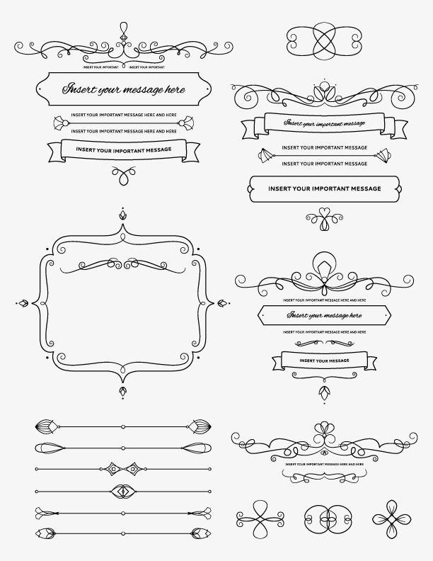 Blanco y negro marco de patrones,Boda logo,Hermosa | المجال اللهد ...
