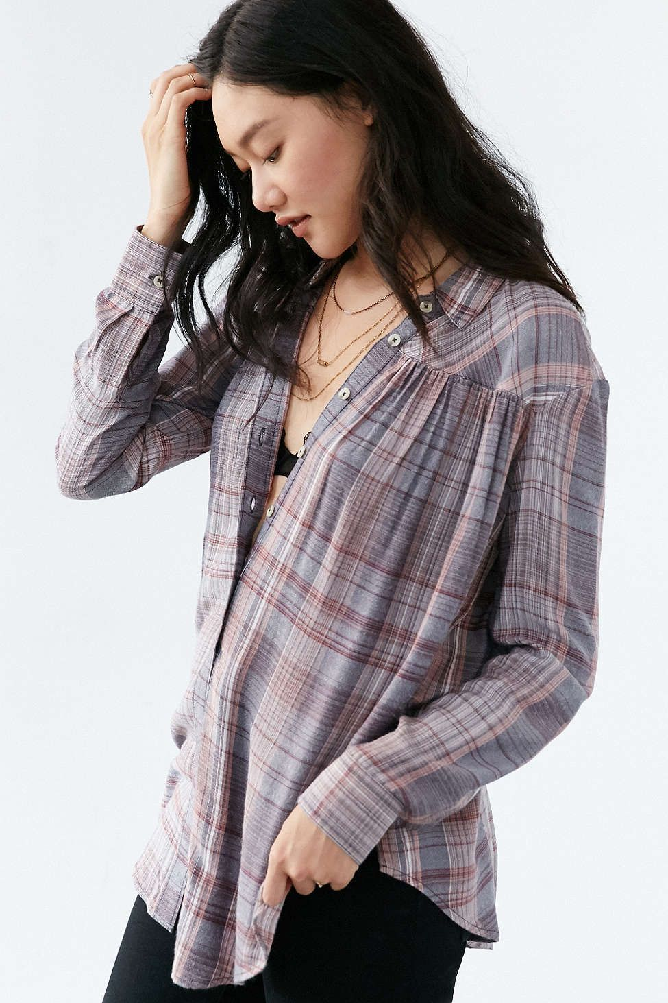 BDG Melanie Button-Down Shirt.  I think that this could be cute and not too shapeless on me.