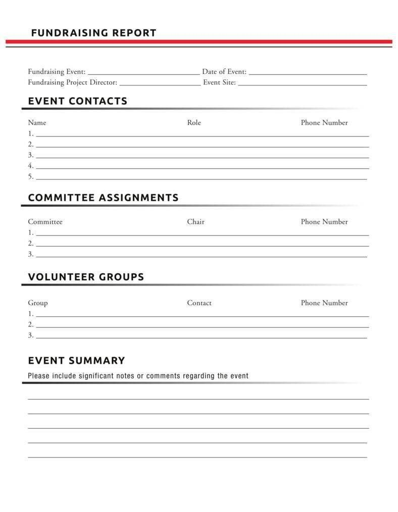 fundraising report templates reporttemplates fundraising report