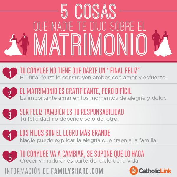 Matrimonio Catolico Pasos : Biblioteca de catholic link infografía cosas que