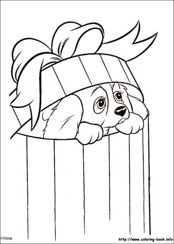 Lady and the Tramp coloring picture | Disney Coloring Pages | Pinterest