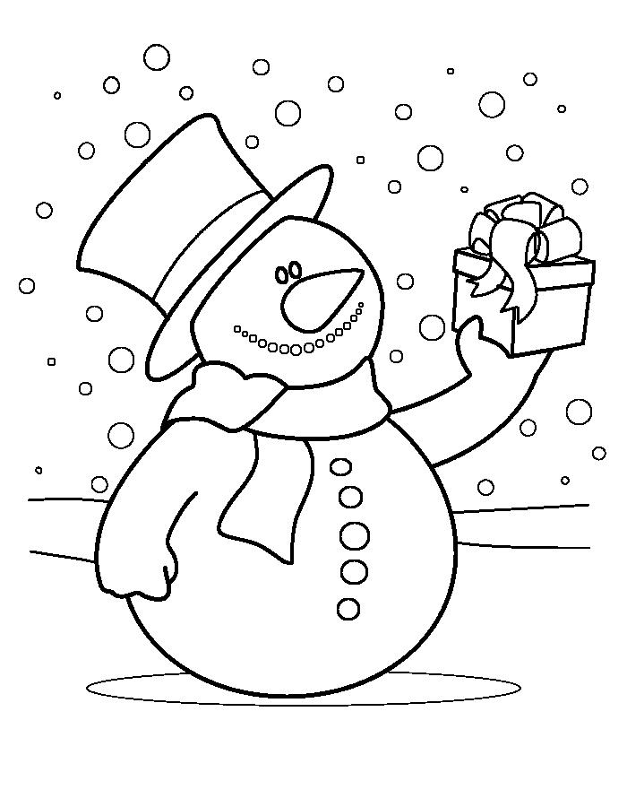 Zeppelin Kleurplaat Sinterklaas Sneeuwpop Brengt Een Kado Kleurenisleuk Nl Kleurplaten