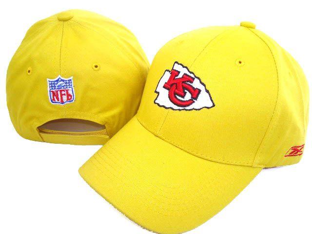d53cd2d4ecdba Reebok NFL Kansas City Chiefs Yellow Snapback Fashion hat