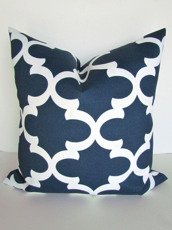 Blue Outdoor Pillows Navy Throw Pillow Covers
