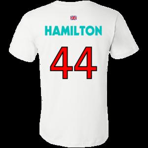 Lewis Hamilton No 44 Jersey F1 T Shirt White Shirts T Shirt Shirts White