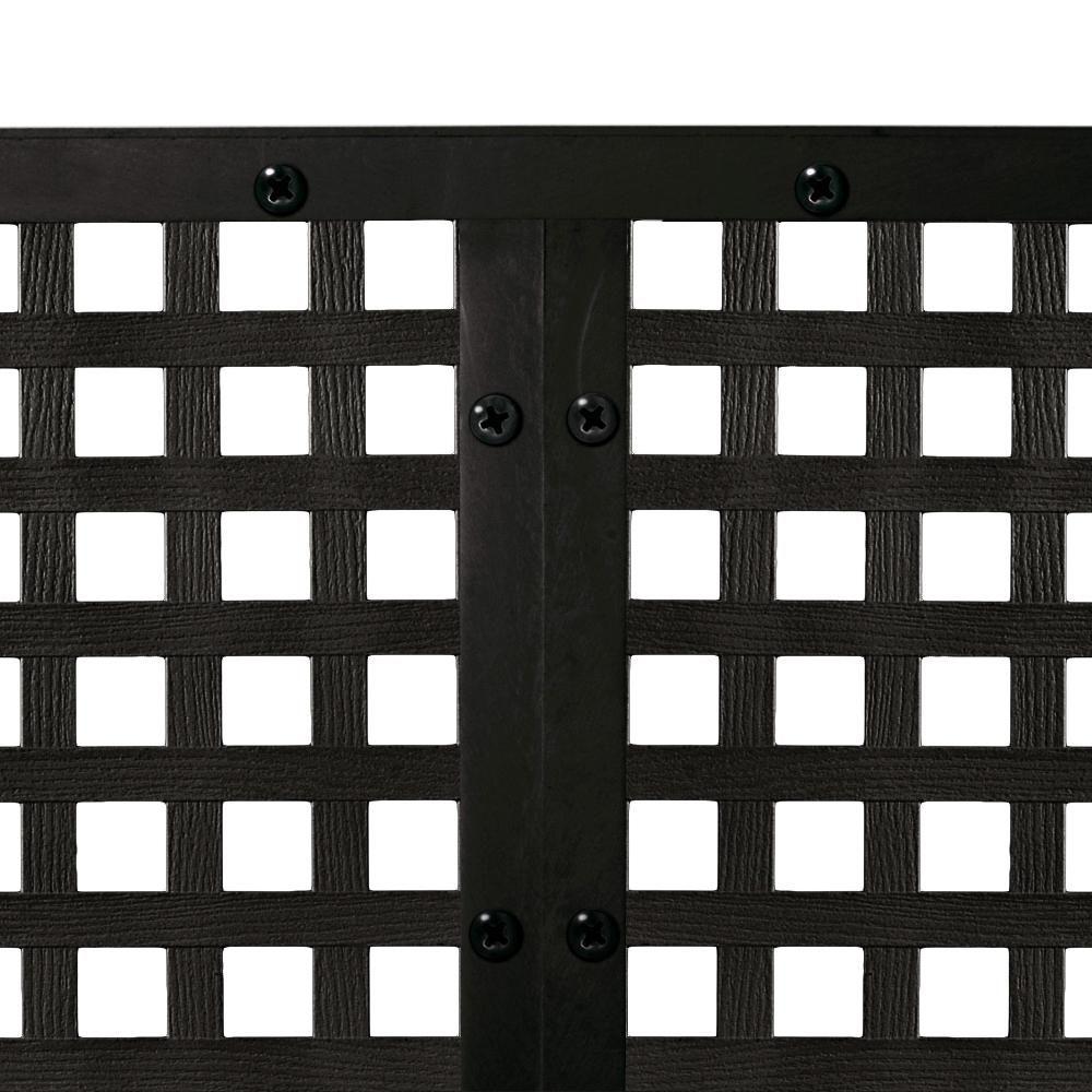 4 Ft X 8 Ft Black Privacy Square Vinyl Lattice Framed 222602 The Home Depot In 2020 Lattice Wall Lattice Decorative Screen Panels